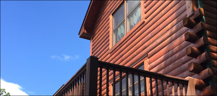 Professional Log Home Staining Service